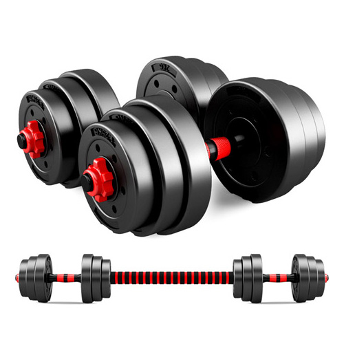 JMQ Adjustable Rubber Dumbbell Set Barbell Home GYM Exercise Weights Fitness 20kg