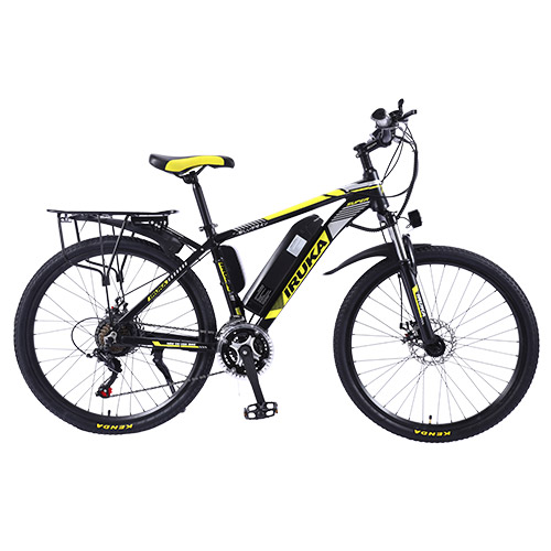 """IRUKA 26"""" Electric Bike Bikes Bicycles 350W Assisted Bicycle for Adult Yellow"""