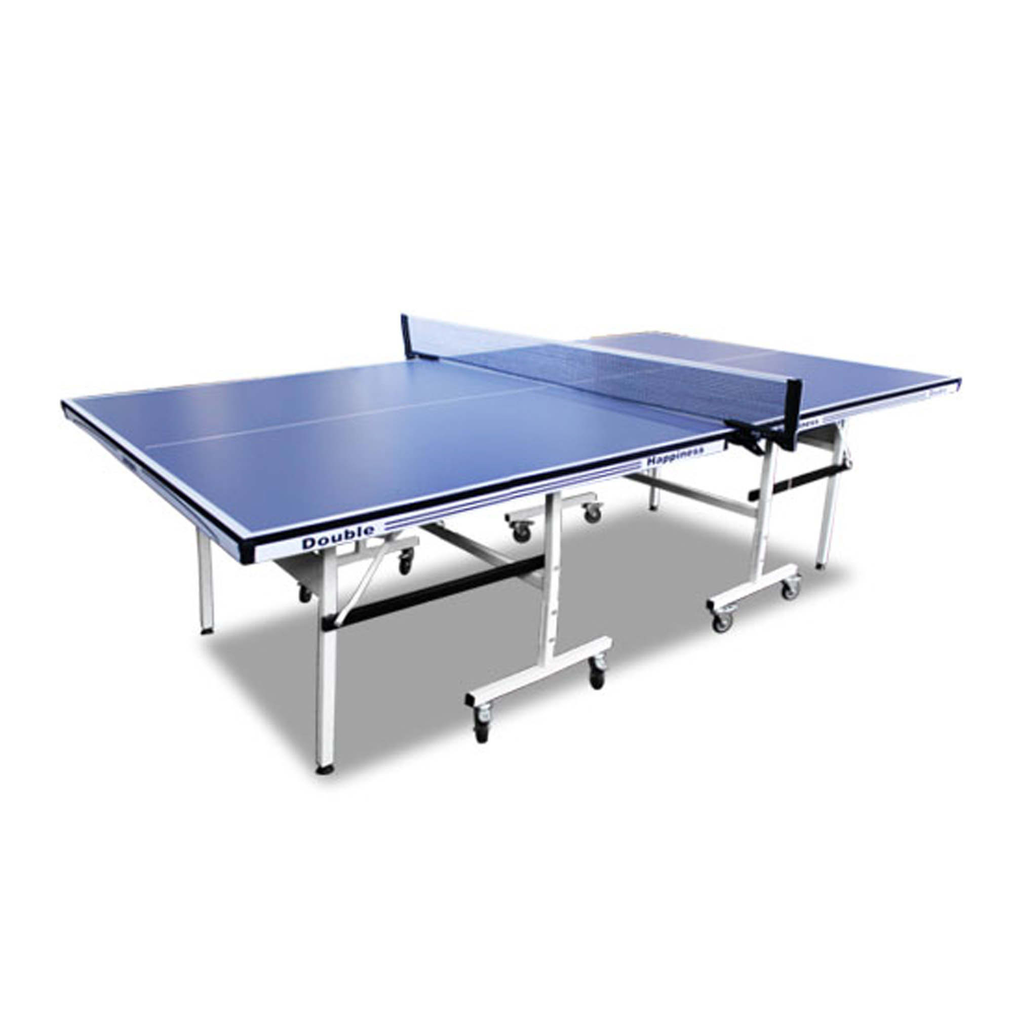 Double Happiness Indoor Advanced 160 Table Tennis Ping Pong Table Blue Top with Free Accessories Package