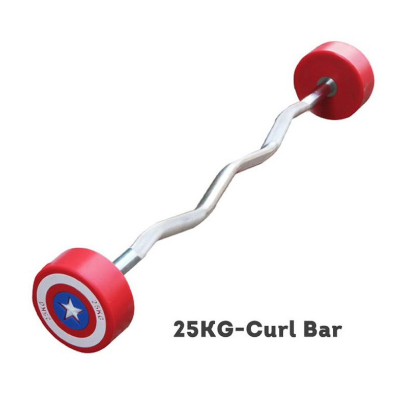 Captain America Curl Olympic Barbell Barbells Home GYM Fitness Equipment