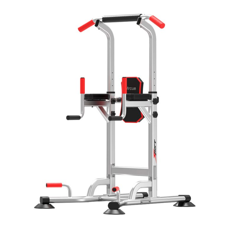 JMQ Fitness Silver Pull Up Chin Up Knee Raise Heavy Duty Workout Station Home Gym Exercise