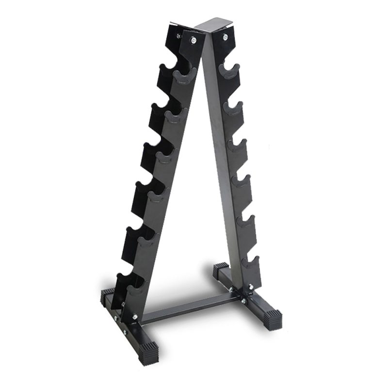 Vertical Dumbbell Dumbbells Storage Rack Stand 6-Pair Home Gym Weight Equipment