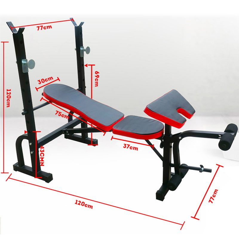 JMQ Fitness Foldable Multi-Station Weight Bench Press Equipment Home Gym Workout
