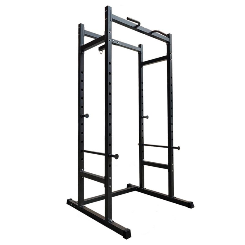 JMQ Fitness Home Power Rack Power Cage Weight Training Equipment Gym Workout