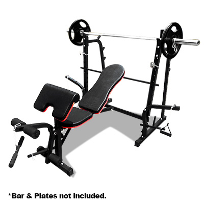 JMQ Fitness RBT3015 Multi-Station Weight Bench Press Fitness Incline Gym Workout