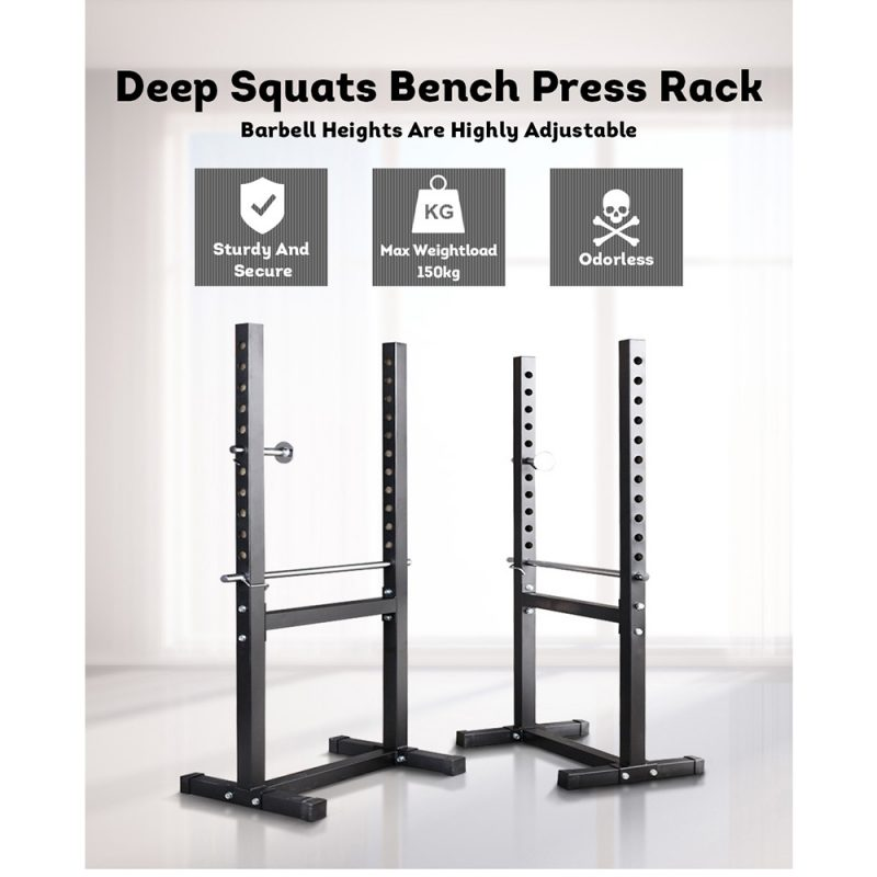 JMQ Fitness RBT3003 Squat Rack Weight Training Home Gym Workout Lifting Stand