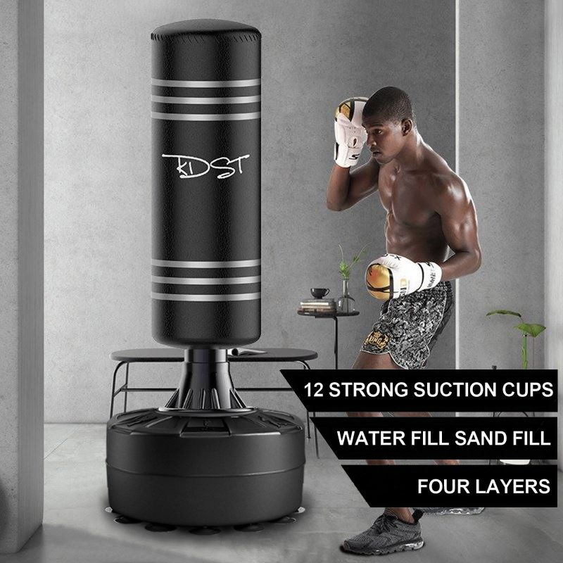 G16 175CM Round Standing Punching Bag Boxing Punch Bag Home Gym