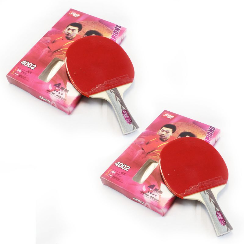 2x DHS 4002 4 Star Table Tennis Bat Racket Long Handle Ping Pong Paddle Shakehand