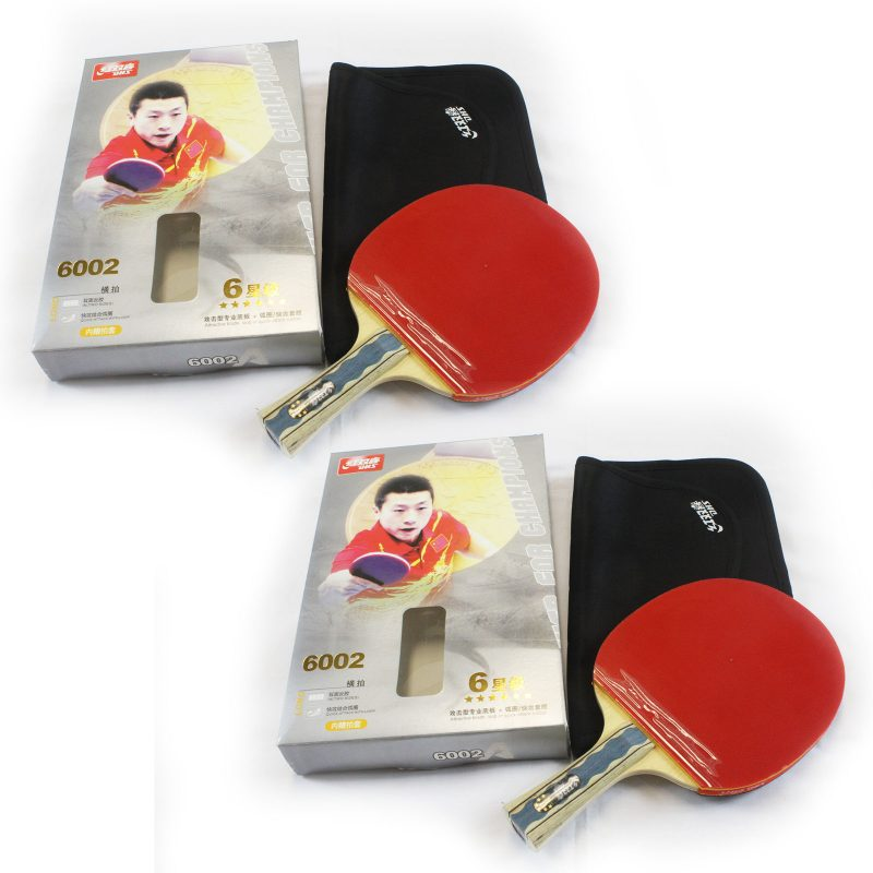2x DHS 6002 6 Star Table Tennis Bat Racket Long Handle Ping Pong Paddle Shakehand