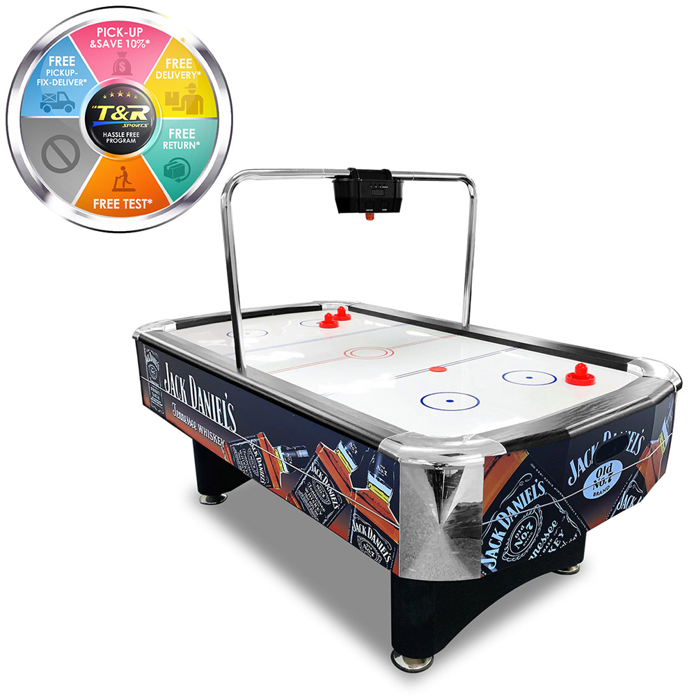 JD LOGO 7FT Air Hockey Table with Bridge Electronic Scorer