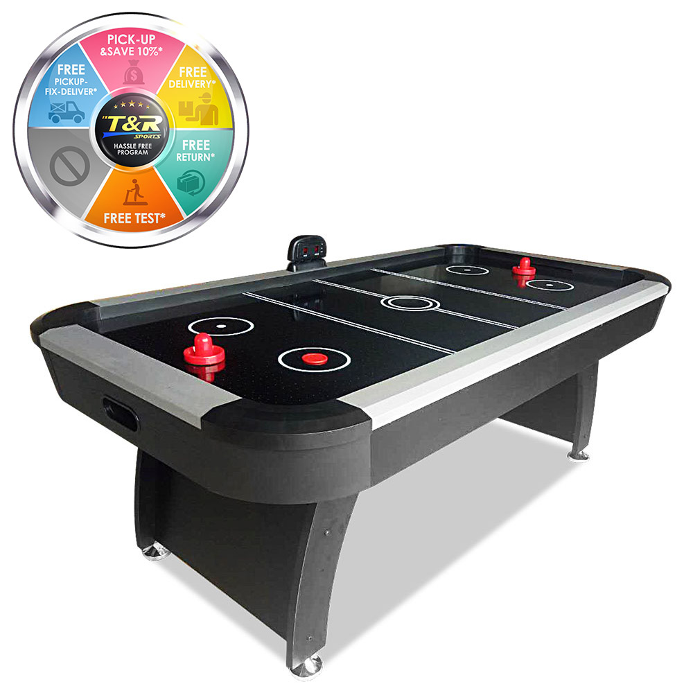 T&R sports AH10 7FT Air Hockey Table Black