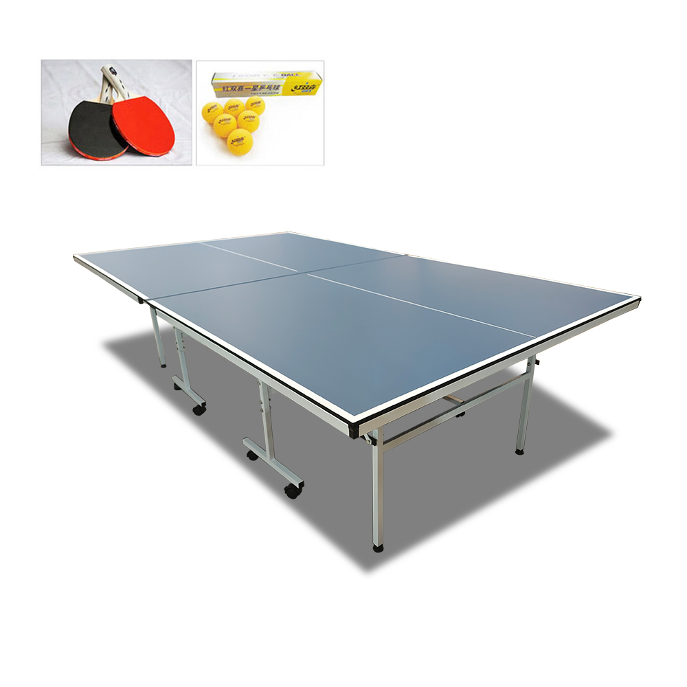 Indoor Rollaway 130 Table Tennis Ping Pong Table with Upgraded Accessories Package