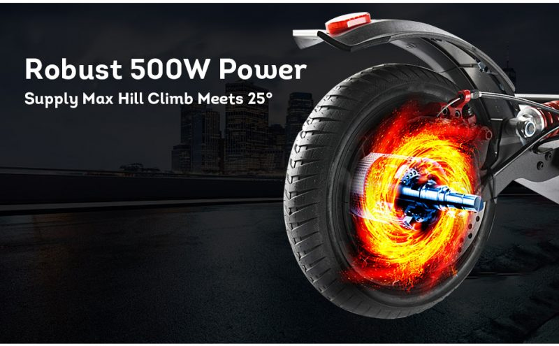 BOOSTGO S7 Pro Off-Road Electric Scooter with Adjustable Seat 500W 48V