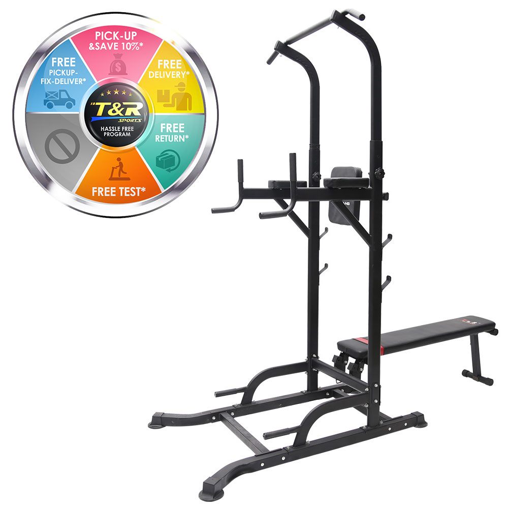 T058 Pull Up Chin Up Knee Raise Workout Station Men Women Exerise Home GYM Fitness