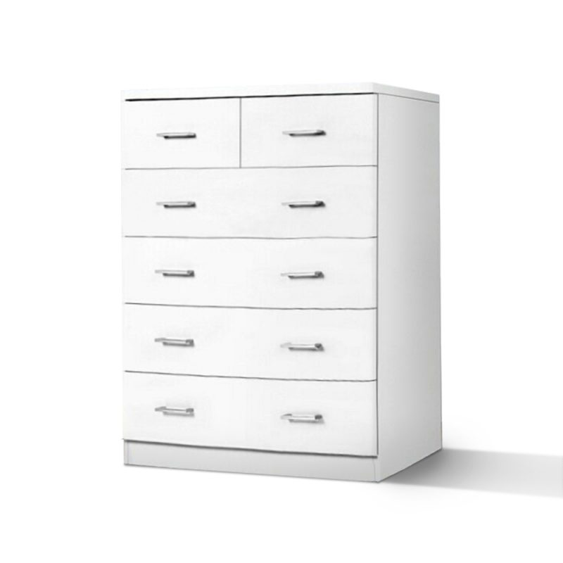 Tallboy Lowboy Dresser 6 Chest of Drawers Bedside Table Cabinet Bedroom Storage