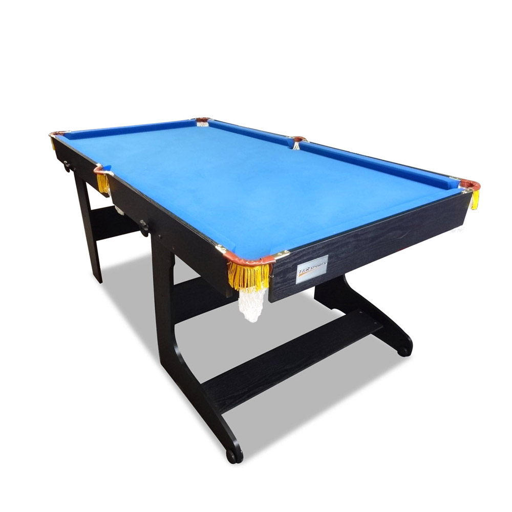 New 6FT Foldable / Fold Away Pool Table for Billiard Snooker Small Room