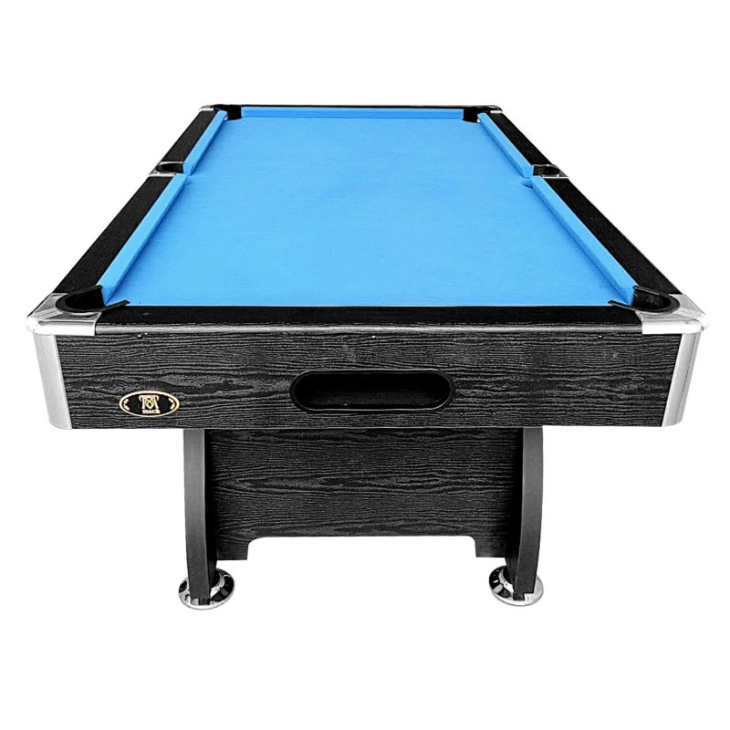 7FT MDF Pool Snooker Billiard Table with Accessories Pack, Black Frame