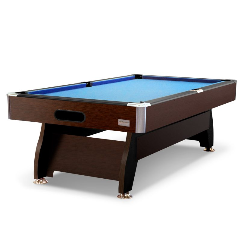 8FT MDF Pool Snooker Billiard Table with Accessories Pack, Walnut Frame