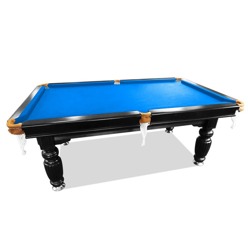 7FT Luxury Slate Pool Table Solid Timber Billiard Table Professional Snooker Game Table with Accessories Pack,Black Frame