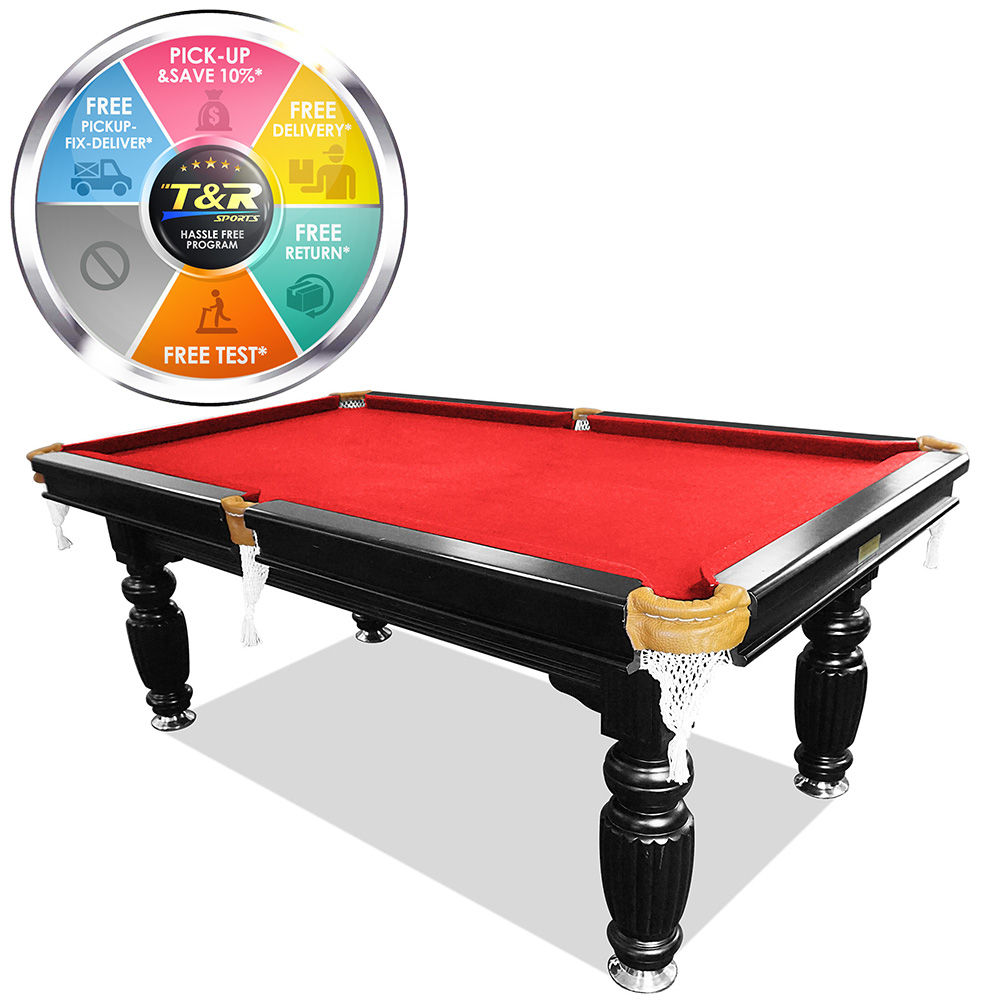 7ft red slate pool table