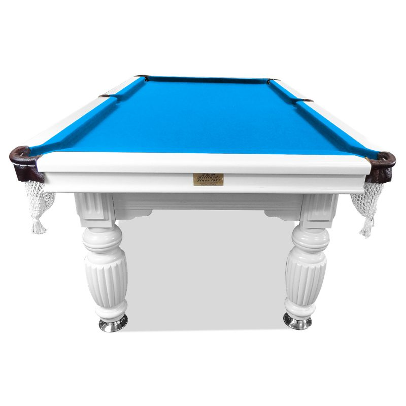 7FT Luxury Slate Pool Table Solid Timber Billiard Table Professional Snooker Game Table with Accessories Pack,White Frame