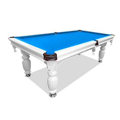 Mace 7FT White Frame Blue Felt Slate Billiard Pool Table with Full Accessories Package