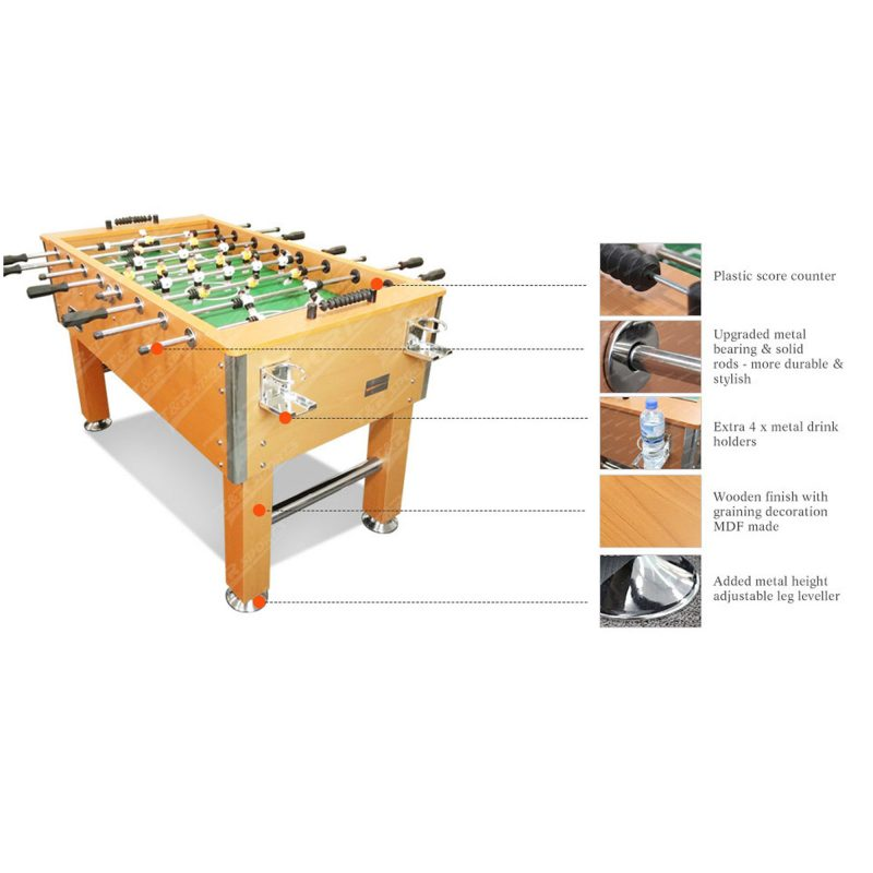 T&R sports 5FT Foosball Soccer Table with Solid Steel Rods
