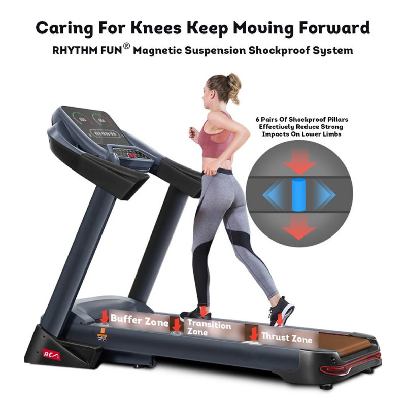 JMQ Fitness 701 5.0HP Foldable Electric Treadmill Home Gym Exercise Machine