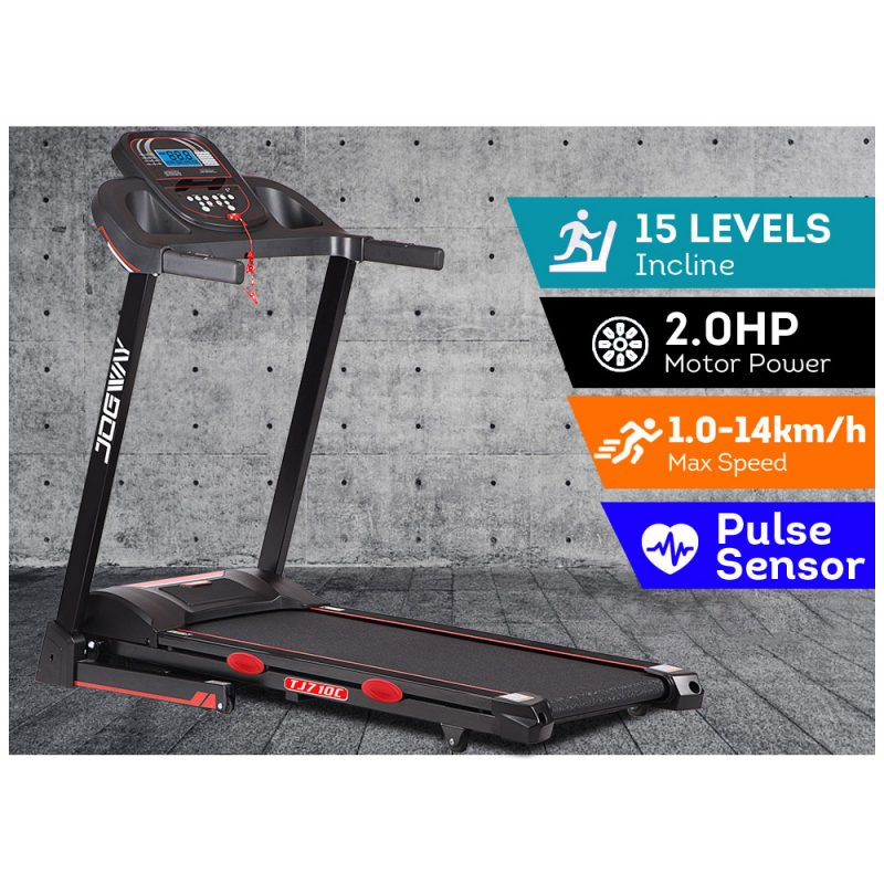 JOGWAY TJ710C 2.0HP Electric Treadmill Foldable Auto Incline Home Gym Exercise Machine