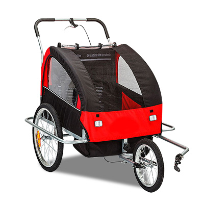 Kids Bike Trailer Child Bicycle Pram Stroller Children Jogger Red