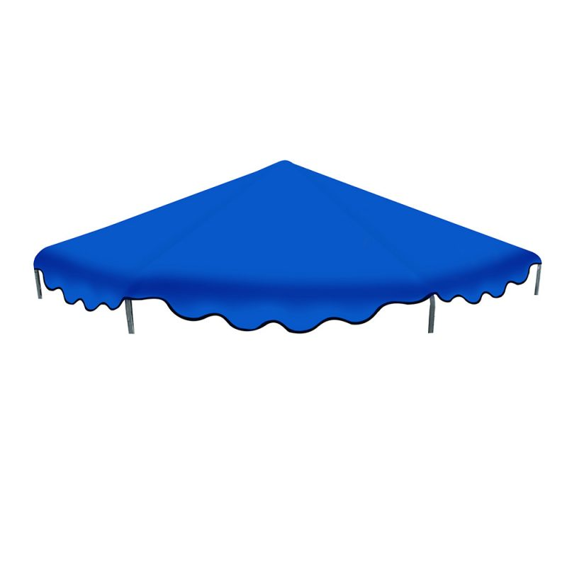 12FT Flat Trampoline Roof Cover Kids Shade Removable Outdoor Sun Protection