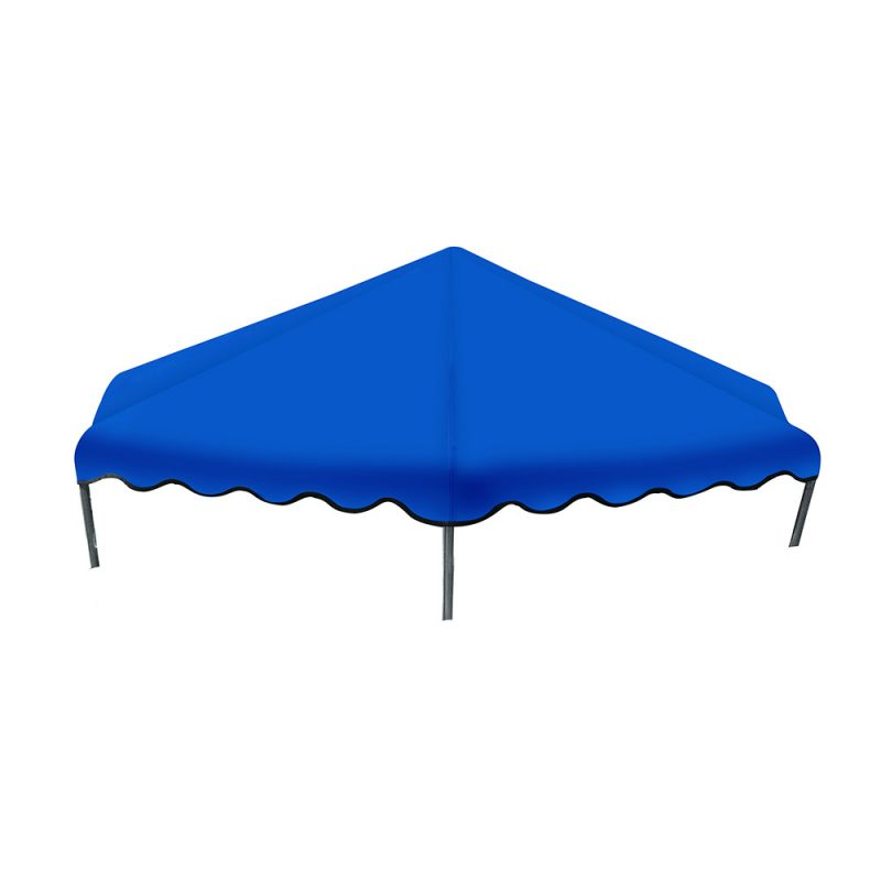 8FT Flat Trampoline Roof Cover Kids Shade Removable Outdoor Sun Protection
