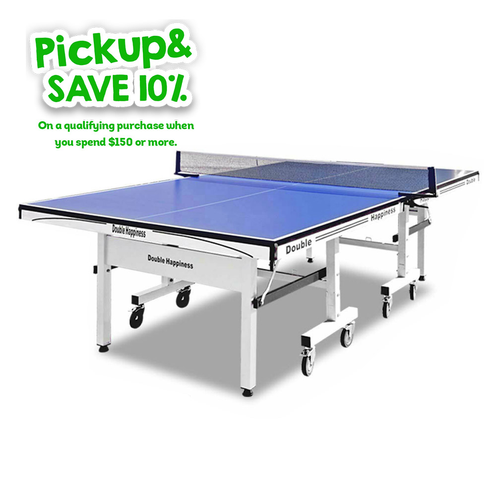 Double Happiness Indoor Pro 250 Table Tennis Ping Pong Table with Free Accessories Package