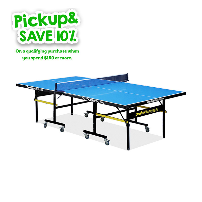 Double Happiness Outdoor Pro 600 Table Tennis / Ping Pong Table