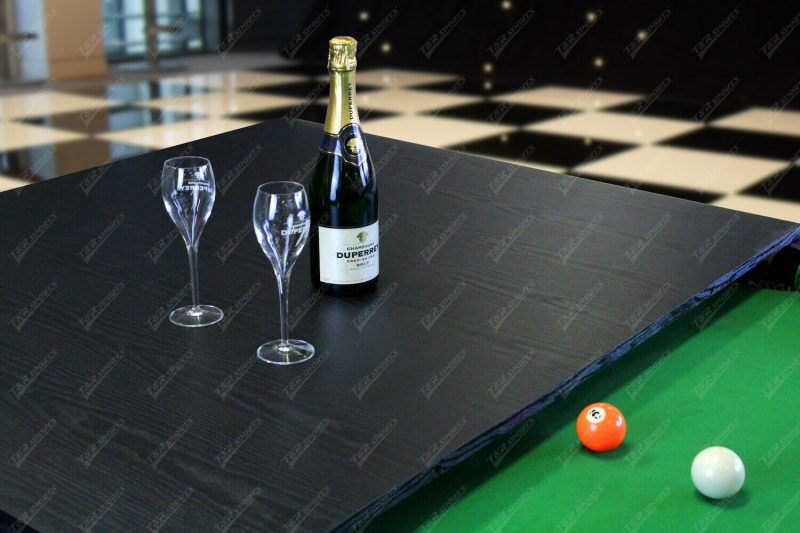 7Ft Elegance Dining Pool Table Black Frame with Top Free Accessories