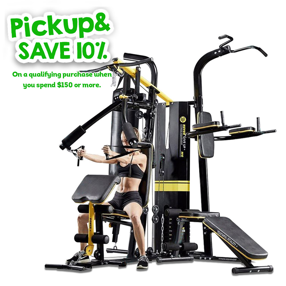 Multifunction Home Gym System Weight Training Exercise Workout Fitness M6