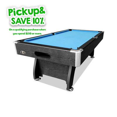 Mace 7FT Black Frame Blue Felt MDF Billiard Pool Table with Full Accessories Package