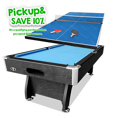 8FT POOL SNOOKER BILLIARDS TABLE 19MM PING PONG TOP