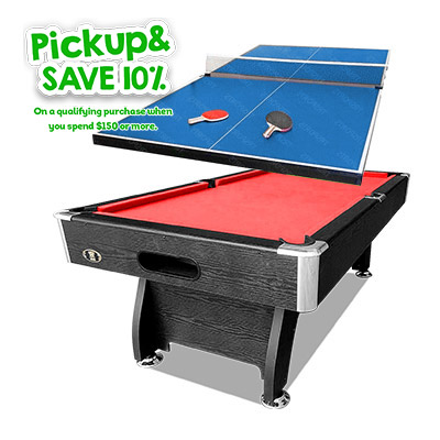 7FT POOL SNOOKER BILLIARDS TABLE 19MM PING PONG TOP