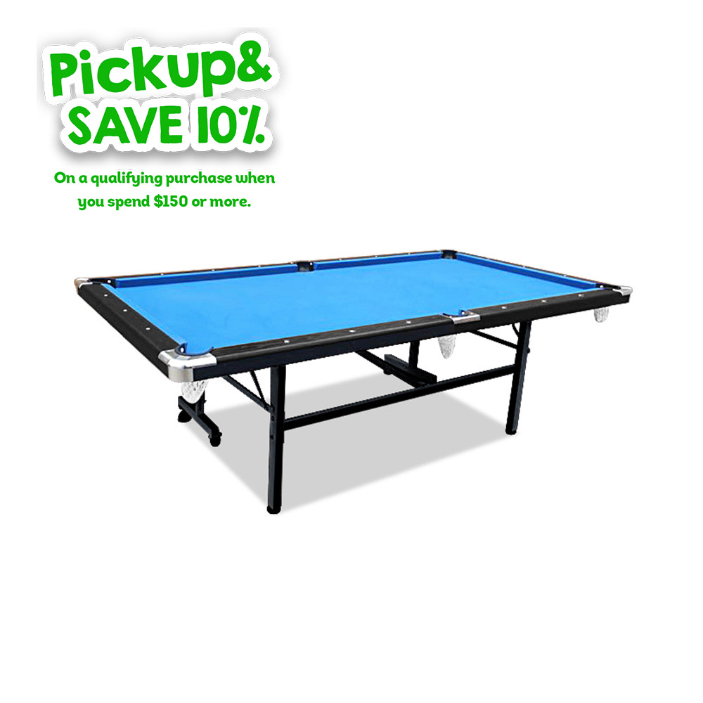 2019 New Model 7FT Blue Foldable / Fold Away Pool Billiard Table Free Accessory