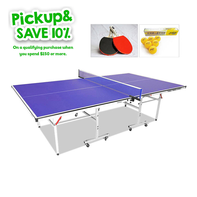 Primo Indoor Optimal 16 Table Tennis Ping Pong Table with Upgraded Accessories Package