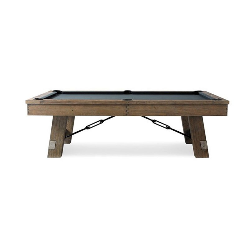 8FT SLATE POOL TABLE W/ DINING TOP