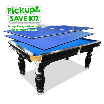 7FT Blue Slate Pool Table + 2Pcs Ping Pong Table Tennis/Poker Top