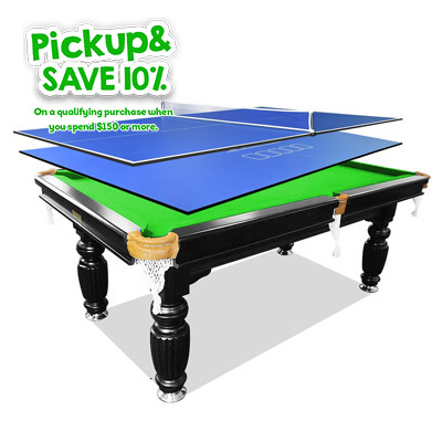 7FT Green Slate Billiards/Pool Table + 2Pcs Table Tennis/Poker Top