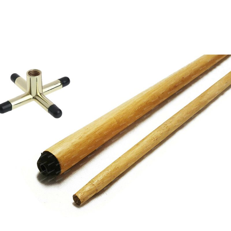 """84"""" Extra Long 2-Piece Brass Cross Rest with Cue"""