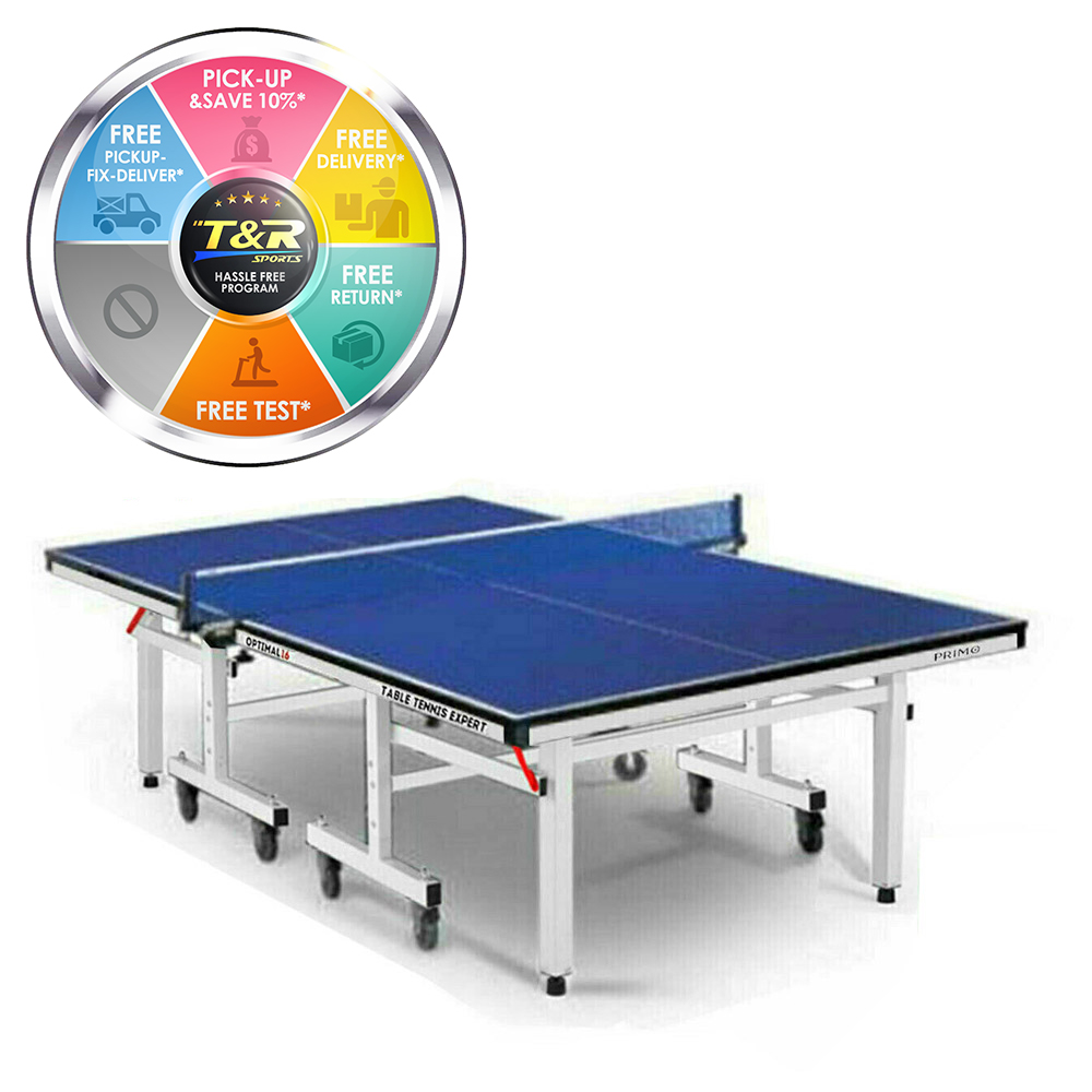 Primo Indoor Optimal 16 Table Tennis Ping Pong Table with Free Accessories Package