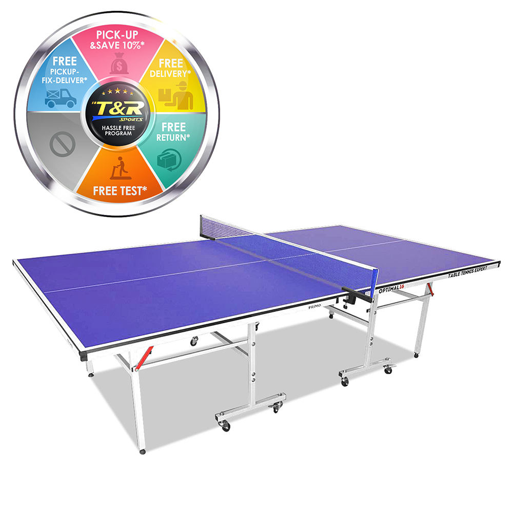 Primo Indoor Optimal 19MM Table Tennis Ping Pong Table with Free Accessories Package