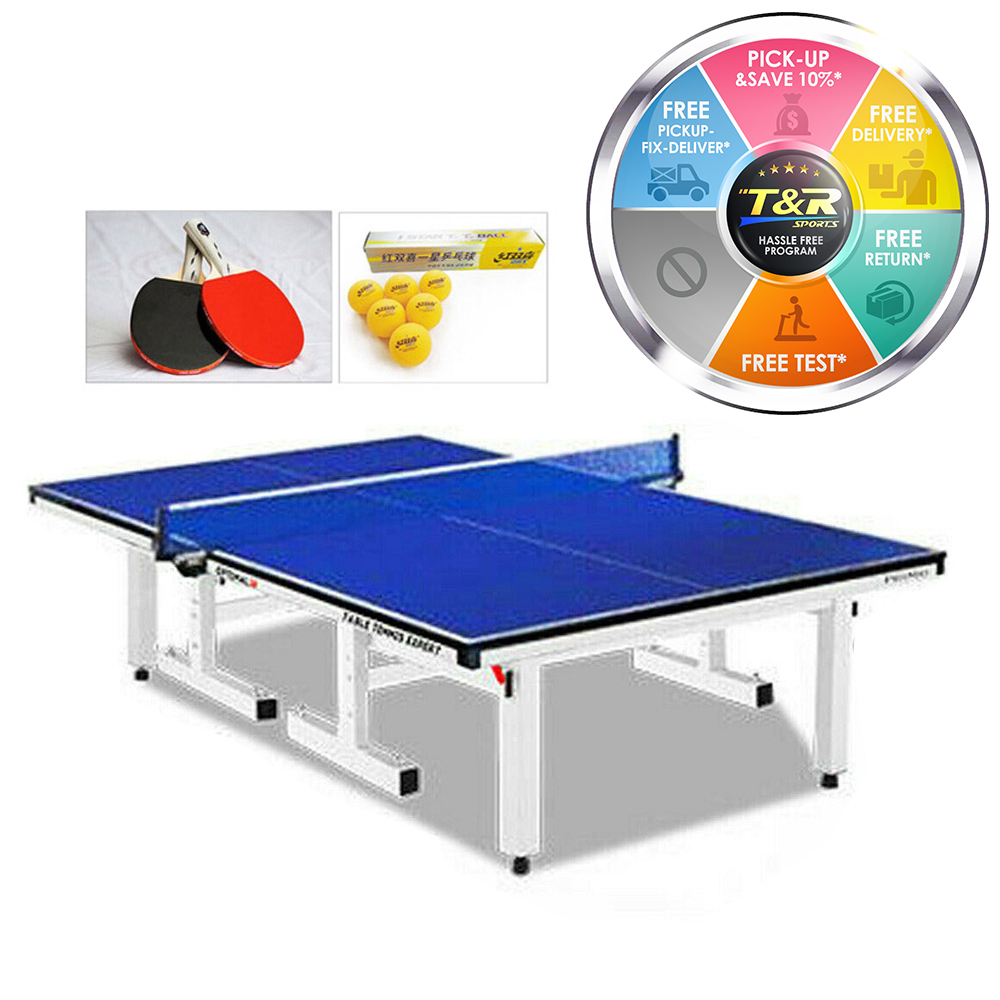 Primo Indoor Optimal 25MM Table Tennis Ping Pong Table with Upgraded Accessories Package