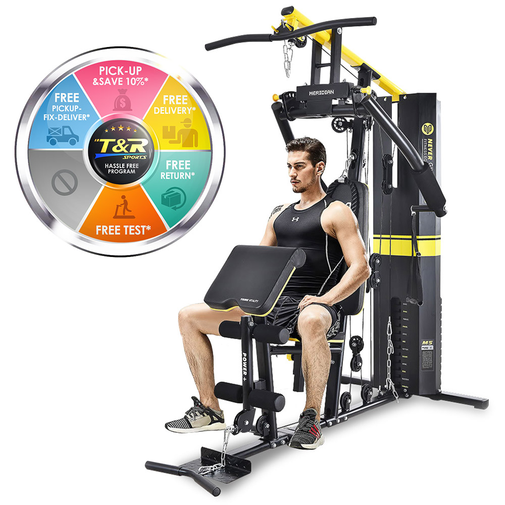 Multi Station Home Gym System Weight Fitness Equipment Machine