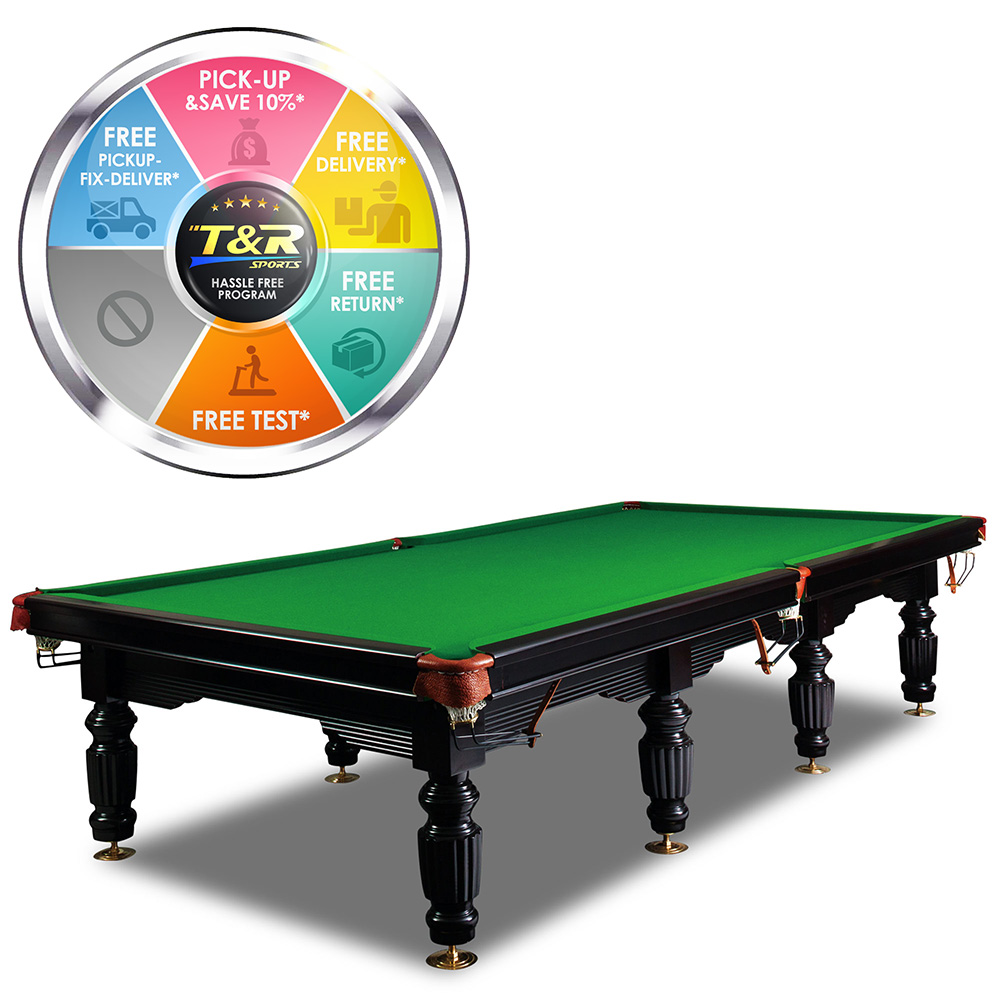 12ft luxury green slate pool table